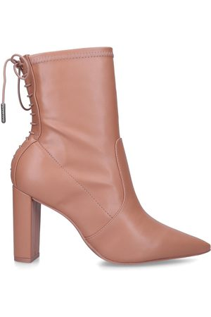 Carvela Women Ankle Boots - Second skin ankle - tan pointed toe lace back ankle boots