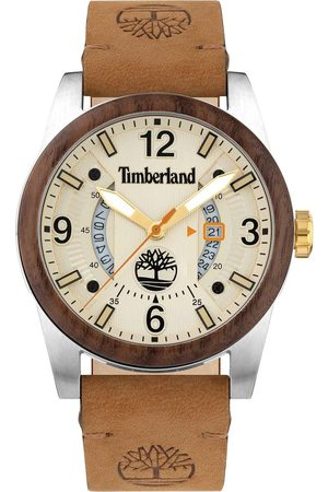 Timberland Ferndale Mens Watch With Leather Strap And Beige/Cream Dial