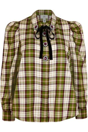 River Island Check Embellished Button Shirt