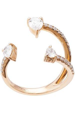 Anita Women Rings - 18kt rose Saturn diamond ring