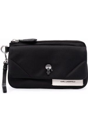 Karl Lagerfeld K/Ikonik logo-charm purse