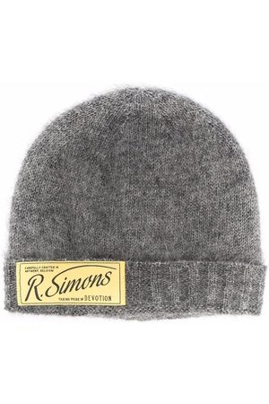 RAF SIMONS Logo-patch knitted beanie