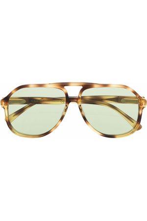 Gucci Tortoiseshell aviator-frame sunglasses