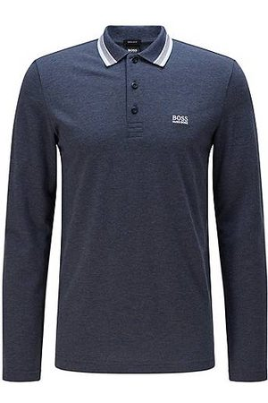HUGO BOSS Regular-fit polo in brushed piqué cotton