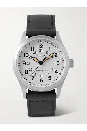 Timex Expedition North 38mm Hand-Wound Stainless Steel and Leather Watch