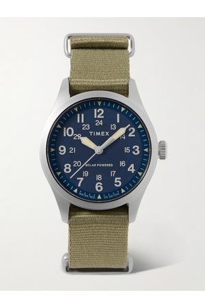 Timex Field Post Solar 41mm Stainless Steel and Recycled Webbing Watch