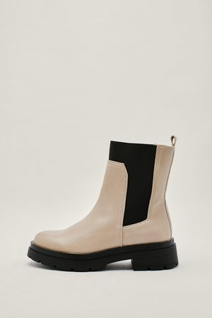 NASTY GAL Women Chelsea Boots - Womens Exposed Gusset Chelsea Boots