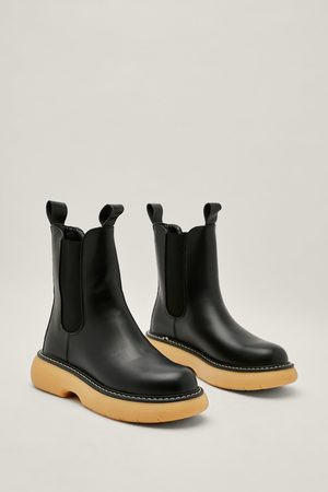 NASTY GAL Women Chelsea Boots - Womens Chunky Bubble Sole Chelsea Boots