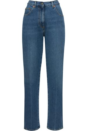Gucci Women Straight - Denim Eco Bleached Straight Jeans
