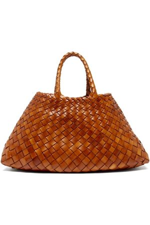 Dragon Diffusion Women Shopper & Tote Bags - Santa Croce Small Woven-leather Tote Bag - Womens - Tan