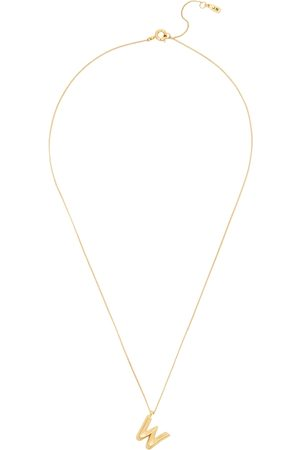Jenny Women Necklaces - W Initial 14kt -dipped Necklace
