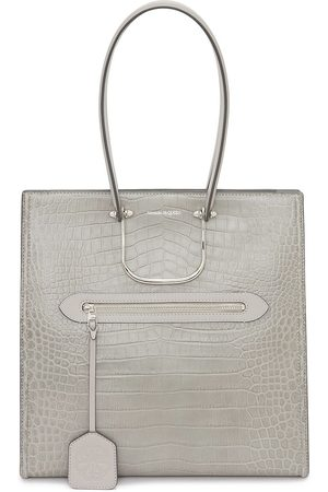 Alexander McQueen Tall Story crocodile-effect tote