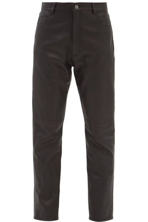 Raey High-rise Leather Jeans - Womens