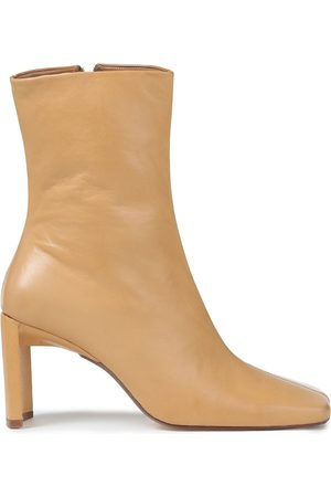Miista Woman Ekatarina Smooth And Patent-leather Ankle Boots Size 35