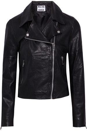 Walter Baker Women Leather Jackets - Woman Presley Cropped Leather Biker Jacket Size L