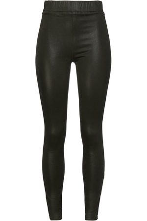 L'Agence Woman Rochelle Coated High-rise Skinny Jeans Forest Size L