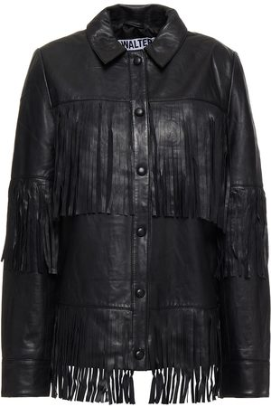 Walter Baker Woman Fringed Leather Jacket Size L