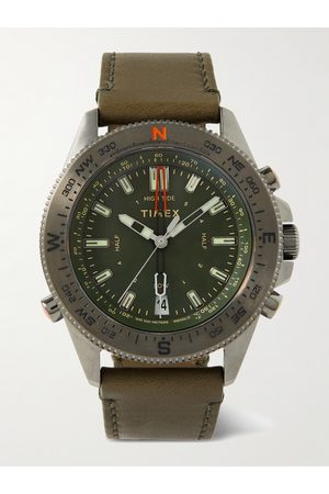 Timex Tide-Temp-Compass Stainless Steel and Leather Watch