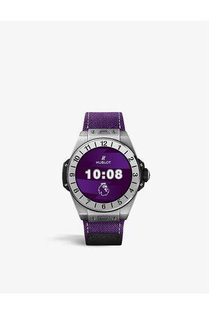 HUBLOT 440.NX.1100.NR.PLW21 Big Bang E Premier League titanium and fabric quartz watch