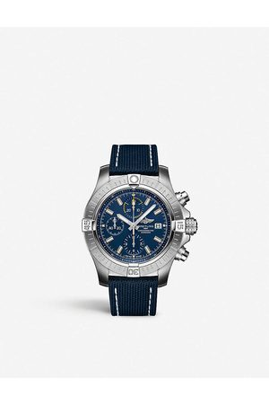 Breitling Men Watches - A17318101C1X1 Avenger Automatic 43 stainless steel and woven watch