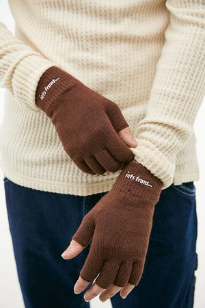 iets frans... Men Gloves - Iets frans. Chocolate Fingerless Gloves - ALL at Urban Outfitters