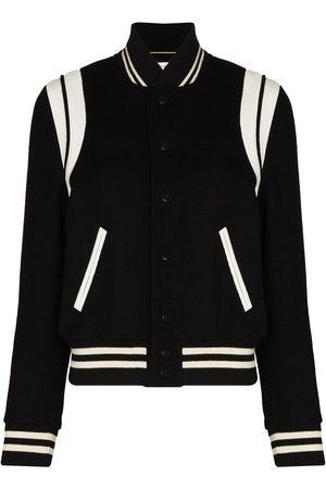 Saint Laurent Two-tone varsity jacket