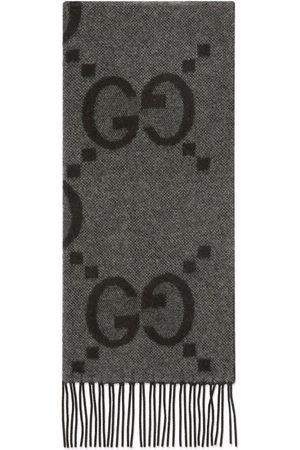 Gucci Men Scarves - GG jacquard cashmere scarf