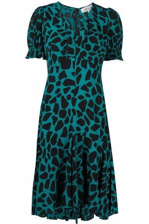 Diane von Furstenberg Alexis giraffe-print crepe dress