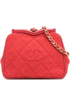 CHANEL 1990 quilted CC wool belt bag