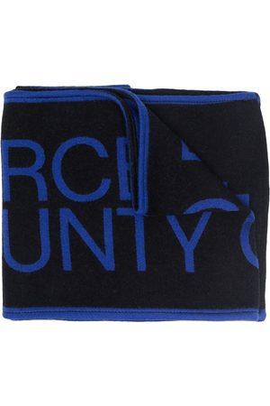 MARCELO BURLON Logo-knit scarf