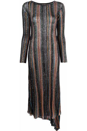 Missoni Metallic striped maxi dress