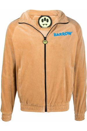 BARROW Smiley-print velvet bomber jacket