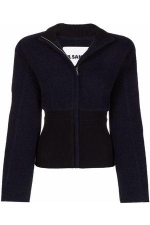 Jil Sander Panelled two-way zip jacket