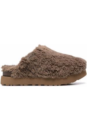 UGG Platform shearling slippers