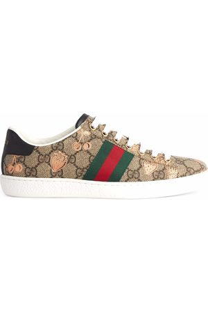 Gucci Ace berry-print sneakers - Neutrals