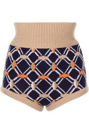 Sonia by Sonia Rykiel Intarsia wool mini shorts
