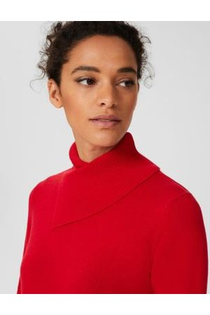 Hobb's M&S Womens Merino Wool Roll Neck Jumper with Cashmere - XS