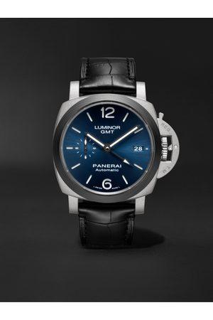 PANERAI Luminor GMT Automatic 42mm Titanium and Alligator Watch, Ref. No. PAM01279
