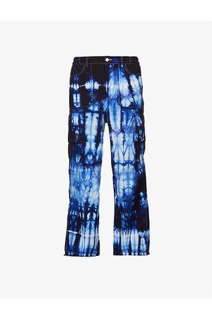 AGR Men Trousers - Tie-dye relaxed-fit shell trousers
