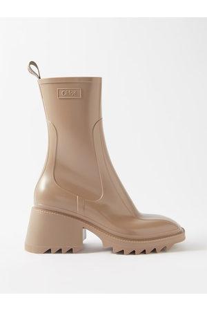 Chloé Betty Block-heel Rubber Boots - Womens