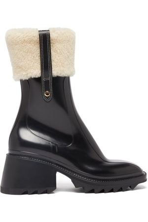 Chloé Betty Shearling-cuff Rubber Ankle Boots - Womens