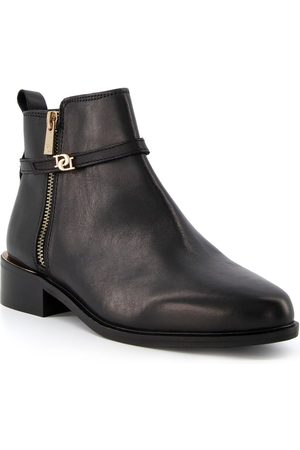 Dune Women Ankle Boots - Pap Leather Buckle Trim Ankle Boot