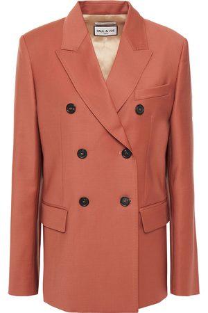 Paul & Joe Woman Double-breasted Wool-blend Blazer Antique Rose Size 36