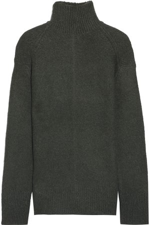 Vince Women Turtlenecks - Woman Mélange Knitted Turtleneck Sweater Dark Size L