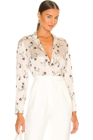 Vince Autumnal Rose Shaped Collar Blouse in . Size XS, S, M.