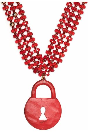 Jean Paul Gaultier 2000s padlock three-strand necklace