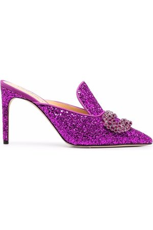 GIANNICO Women Heels - Glittered high-heel mules