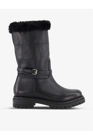 Dune Women Biker Boots - Regents faux fur-lined leather biker boots