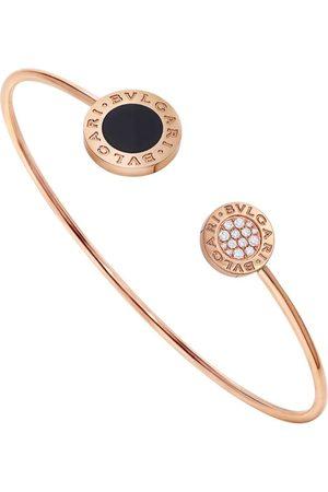 Bvlgari Rose , Diamond and Onyx Flip Bracelet