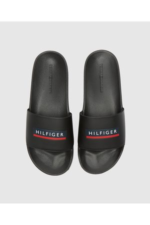 Tommy Hilfiger Men's Embossed Pool Slides